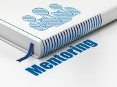 Education concept: book Business People, Mentoring on white background