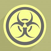 minimalistic illustration of a bio hazard icon, eps10 vector