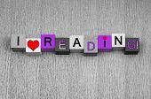 picture of girlie  - I Love Reading - JPG
