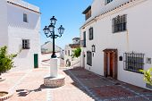 picture of pueblo  - Mijas Pueblo white washed village Square  - JPG