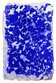 image of lapis lazuli  - prepared slab of the lapis lazuli  - JPG