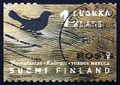 Postage Stamp Finland 1998 Common Blackbird, Bird