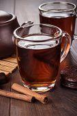 cup of tea with cinnamon sticks