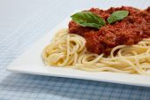Plate Of Spaghetti With Meat Sauce poster