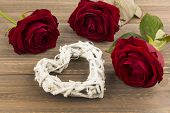 roses as a gift and surprise to a party. symbolic photo for birthday, mother's day, love, valentine'