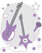Purple Guitars