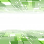 Green Tile Background Template - Perspective View