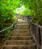 Stairway To Forest, Erawan National Park ,kanchanburi,thailand