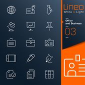 White & Light - Office and Business outline icons