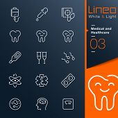 White & Light - Medical and Healthcare outline icons