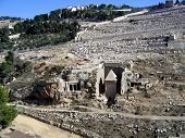 Kidron Valley, The Tomb Of Absalom And The Mount Of Olives