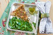 Quiche Lorraine And Lamb's Lettuce
