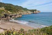 Beautiful Beach of Pechon Cantabria  .Spain .Europa.