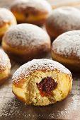 Homemade Raspberry Polish Paczki Donut