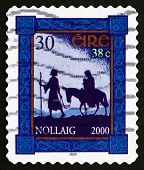 Postage Stamp Ireland 2000 Flight To Egypt, Christmas