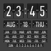 stock photo of count down  - Flip clock template with time - JPG