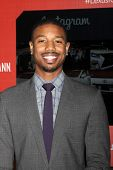 LOS ANGELES - FEB 25:  Michael B. Jordan at the 2nd Annual ICON MANN Power Dinner at Peninsula Hotel on February 25, 2014 in Beverly Hills, CA