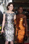 LOS ANGELES - FEB 24:  Michelle Dockery, Lupita Nyong'o at the