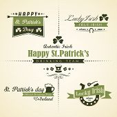picture of saint patrick  - Vector Set Of Saint Patrick - JPG