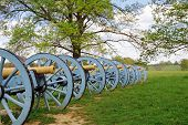 stock photo of revolutionary war  - Revolutionary War cannons on display at Valley Forge National Historical Park - JPG