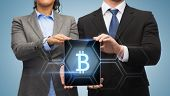 stock photo of bit coin  - business - JPG
