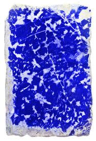 pic of lapis lazuli  - prepared slab of the lapis lazuli  - JPG
