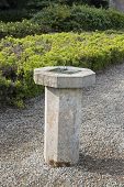 stock photo of sundial  - a stone sundial in armagh north ireland - JPG