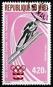 Postage Stamp Mali 1976 Ski Jump