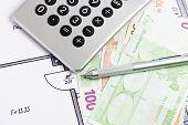 Calculator, Money, Floor Plan
