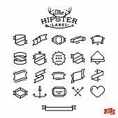 hipster label set