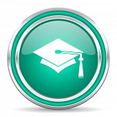 education green glossy web icon