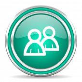 forum green glossy web icon