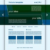 Website Template Minimal Design vector