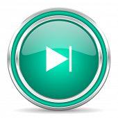 next green glossy web icon