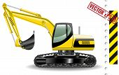 picture of dozer  - Vector illustration of excavator isolated on white background - JPG