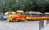 Tourist bus in Lviv