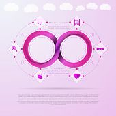 Vector infographic for baby things store with Mobius ribbon