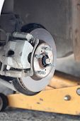 repaired equipment of car brake disc.
