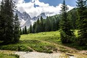 picture of hang-gliding  - Pala group of dolomites in trantino - JPG