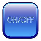 Big blue button labeled on off