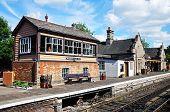 Signal box and railway station, Bridgnorth.