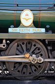 Sir Keith Park loco wheel and nameplate.