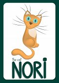 Cartoon cat Nori