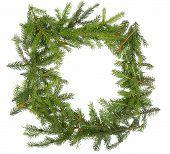 Round Christmas Frame