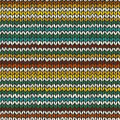 Seamless pattern with hand drawn knitted stripes