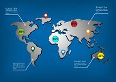 World map infographic template.