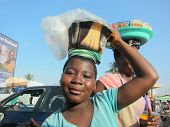 Ghanaian Girl Street Vendor