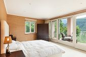 Nice house interior, comfortable bedroom