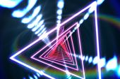 Digitally generated Triangle design with glowing light