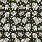 Floral seamless pattern. Vector illustration. Beautiful background. Endless texture can be used for